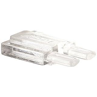Alico Industries MRECAP-N-0 MonoRail End Caps, 2-Pieces Per Set, Clear Lucite Material