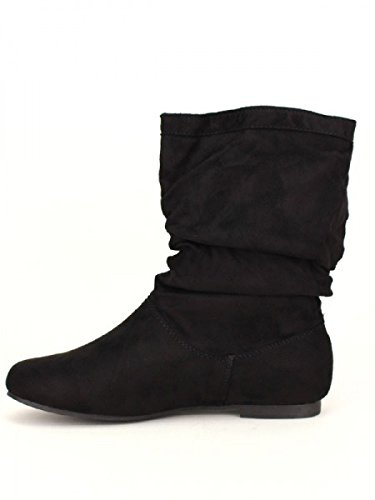Cendriyon, Bottine Noire simili peau SITHEX Moda Chaussures Femme Noir