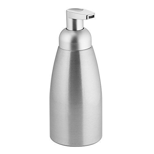 interdesign-metro-aluminum-foaming-soap-dispenser-pump-1-for-kitchen-or-bathroom-brushed-matte-silve