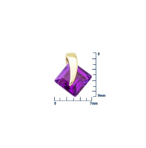 Miore - Collier Femme  375/1000 (9 carats) Violet
