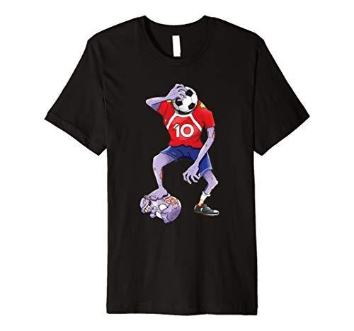 Zombie Football Spieler Halloween Kostüm T-Shirt Kinder -