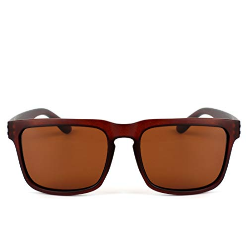 Honneury Herren Vintage Large Frame Sonnenbrille Polarisierte UV-Schutz Sonnenbrille (Farbe : Tea Frame/Tea Lens)