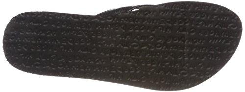 Black Sandal Hilfiger Damen 990 Denim Beach Glitter Zehentrenner Schwarz I70C7H