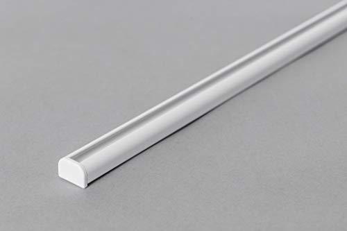 Rollmayer Aluminium Gardinenschiene Mini im Weiß mit Deckenbefestigung (nur Gardinenschiene, 280cm) glänzend 1-läufig Vorhangschiene Innenlaufschiene für Schiebevorhänge, Gardinen und Vorhänge