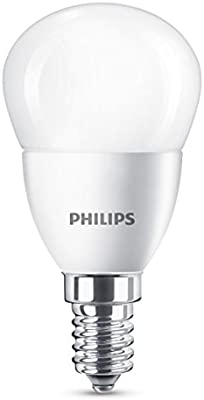 Philips 929001205930 - Bombilla LED esférica, casquillo  E14, consume 5.5 W (equivalente a 40 W), no regulable, luz blanca fría