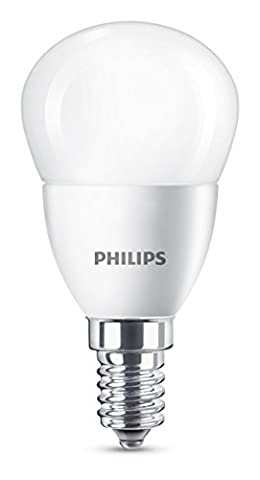 Philips LED E14 Small Edison Screw Mini Globe Light Bulb, 5.5 W (40 W) - Warm White