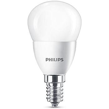 Philips Bombilla Gota Vela LED de luz cálida, 5,5 W/40 W