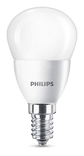 Philips - Bombilla LED esférica E14, 5.5 W, equivalente a 40 W, blanco frío, 520 lúmenes, no regulable