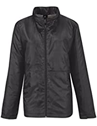 B&C Collection Women's Full Zipped Polyester Multi-Function Microfleece Jackets Dark Grey/Warm Grey Lining L