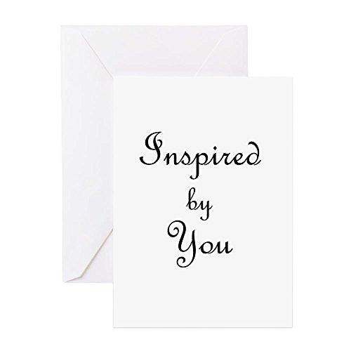 CafePress–Inspiriert von Sie. Png–Grußkarte, Note Karte, Geburtstagskarte, innen blanko, matt