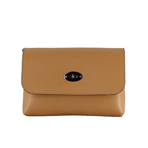 CTM Pochette pour femme, petit sac à epaule avec ceinture d'epaule dnas l'interieur - 26x18x6 Cm