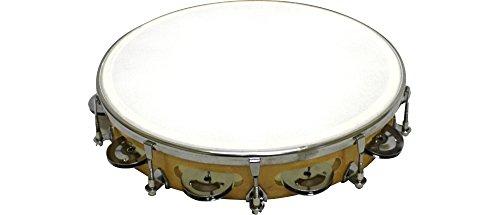 Rhythm Band Instruments RB930FJ Tunable Tambourine 10 Inch with 9 Pairs of Single Row Jingles (Single Tunable)