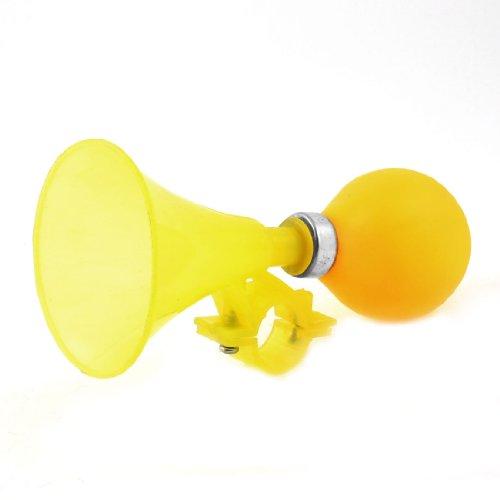 Gelb Gummi Bulb Shape 24mm od.Kunststoff Schließe Lufthorn Trompete für Fahrrad - Zyklus-sound-lautsprecher