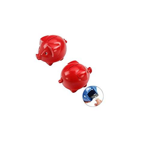 Unbekannt Sparschwein Klein Rot Kunststoff Spardose Schloß Schlüssel Schweinchen Sparen ALP019