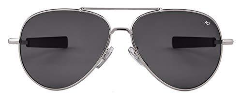 WSKPE Sonnenbrille Sonnenbrille Männer Gold Frame Sunnies Piloten Sonnenbrille Männlichen Schattierungen (Schwarz Objektiv)