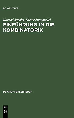Einführung in die Kombinatorik (De Gruyter Lehrbuch)