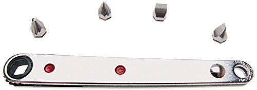 BGS Ratschen-Schlüssel Ultra Dünn mit 2 Kreuz- und 2 Schlitzbit, BGS-115