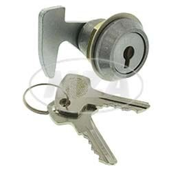 Preisvergleich Produktbild MZA Sitzbankschloss SZ63 mit Haken,  mit Schlüsseln - Simson SR4-1 Spatz,  SR4-2 Star,  SR4-3 Sperber,  SR4-4 Habicht