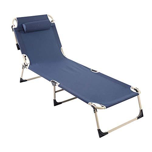 GOTOTOP - Sillón reclinable Plegable portátil para Exteriores o Camping, para Playa, jardín, Patio, jardín, Playa, jardín, reclinable, de 190,5 x 60,96 cm