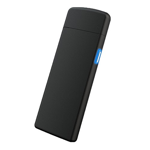 Doppelseitig Wolframdraht Feuerzeug - Juleya Elektronisch USB wiederaufladbare lighter Zigarette Lighter - ohne Gas und Benzin - Flammenlos Winddichte - mit Micro-USB-Ladekabel