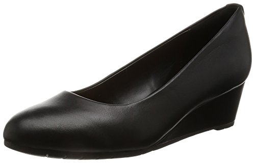 Clarks Damen Vendra Bloom Offene Sandalen, Schwarz (Black Leather), 43 EU