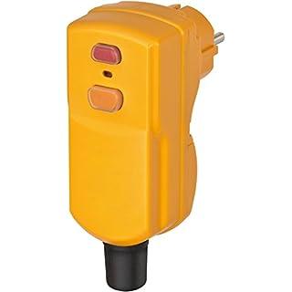 Brennenstuhl 1290670 Personenschutz-Stecker BDI-S 2 30 IP55, 230 V, gelb