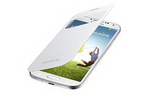Original Samsung Galaxy S4 ( GT-I9500 / GT-I9505 ) Flip-Tasche ( EF-CI950BWEGWW ) - weiß