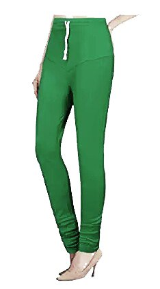 Ruby cotton lycra lyra free size green colour legging leggings for girls and women