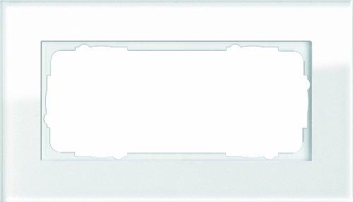 Gira 100212 Abdeckrahmen 2-fach ohne Mittelsteg Esprit Glas, weiß