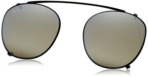 Ray-Ban - ROUND RX 6355, Rechteckig, Metall, Herrenbrillen, BLACK/GREY GOLD MIRROR(2509/B8), 47/20/0