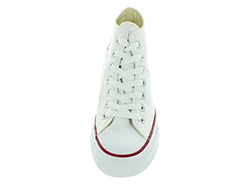Converse Mid Lux, Baskets Basses Mixte Adulte Blanc