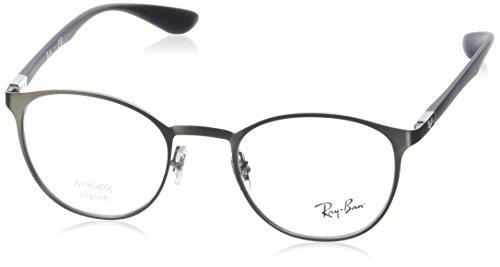 Ray-Ban Unisex-Erwachsene Brillengestell 0rx 6355 2620 47 Grau (Matte Gunmetal),