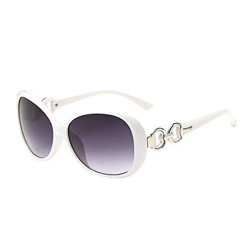 iCerber UV400 Mode Frauen Männer Doppel Ring Dekoration Shades Sonnenbrille Integrierte UV-Gläser Hochwertige Vintage Unisex Brille