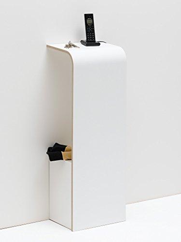 Tojo 151011054 - Mueble para teléfono (31 x 25 x 85 cm), color blanco