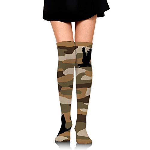 Duck Camo Women Girls Funny Knee High Socks Novelty Crew Socks Boot Socks Athletic Socks Classic High Camo Boot