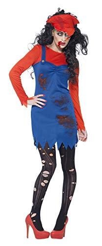 Smiffys, Damen Zombie-Klempner Kostüm, Kleid, Oberteil und Hut, Größe: S, 44364
