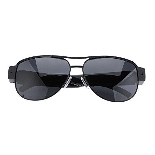 Flylinktech® Neueste HD 800G 1080P 30fps Spion Kamera Sonnenbrille mit Kamera schwarz