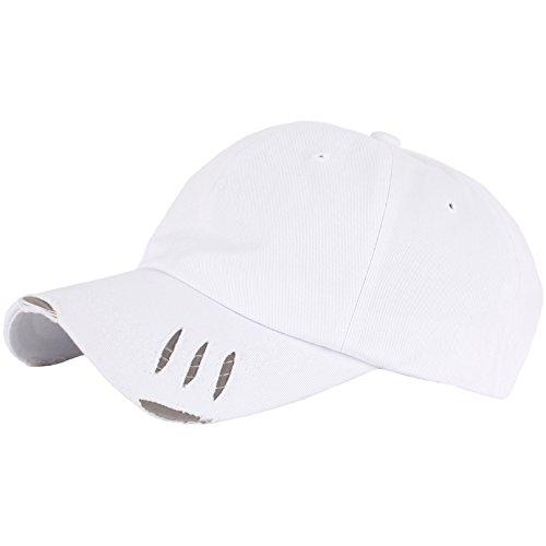 RaOn Scratch Design Band Base Ball Hut für Herren 7 3/8~8 (59cm ~ 64 cm) Weiß (Scratch Golf Bälle)
