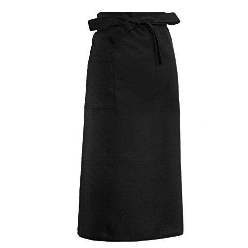 Gjyia Kitchen Schürzen Halbe Länge Lange Taille Schürze Catering Chefs Kellner Uniform Neu (Streifen Backen Noch)