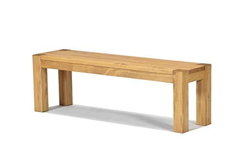 Naturholzmöbel Seidel Sitzbank Rio Bonito 140x38cm, Bank Massivholz Pinie, geölt und gewachst, Farbton Honig hell, Optional: passende Tische