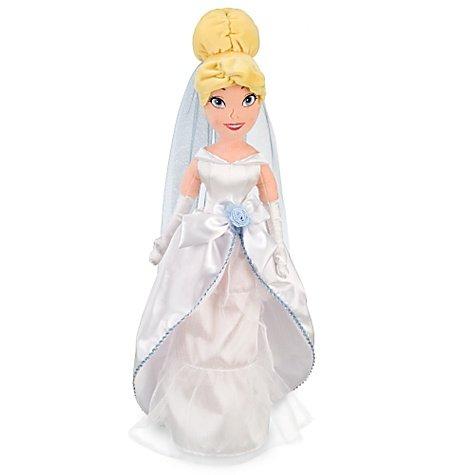 Disney Princess Exklusives 53,3cm Deluxe Plüsch Figur Cinderella weiß Hochzeit Kleid
