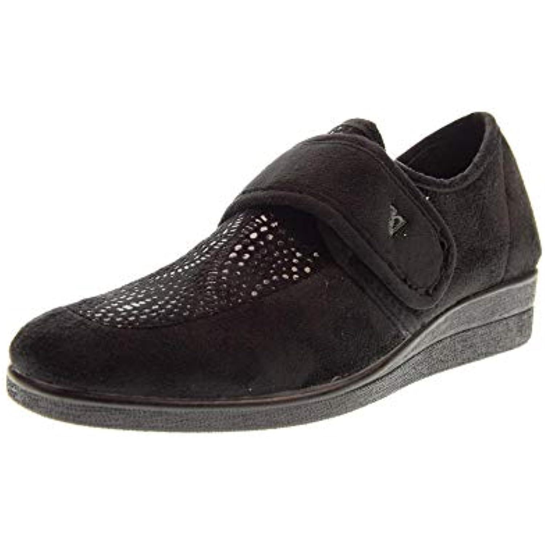 Valleverde B07J9KQN97 Chaussures Femme Chaussons Flip 23208 Noir - B07J9KQN97 Valleverde - 9c4a2b