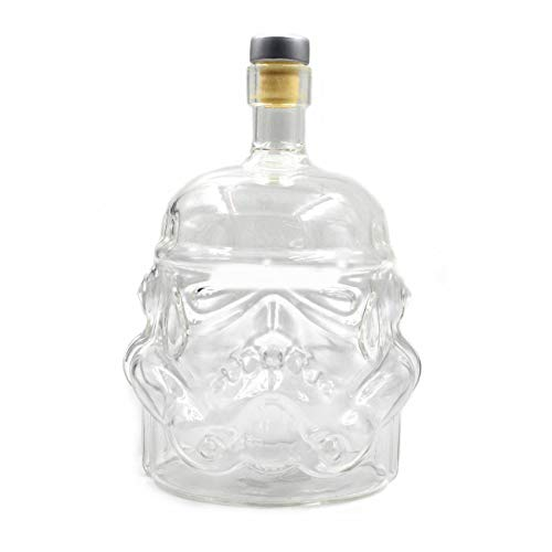 Elviray Trasparente Creativo Whisky Flask Caraffa Decanter Stormtrooper Bottiglia di vetro Decanter per Vino Tazza di vetro