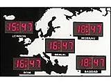 Digitale Weltzeit Uhr mit 24 Weltstädten - Alle Uhrzeiten der Welt auf einen Blick!