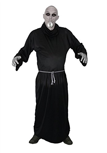 The Dragons Den Uncle Fester Kostüm Größe L-XL und Gesichtsfarbe Addams Family komplettes Kostüm für (Addams Family Fester Kostüm)