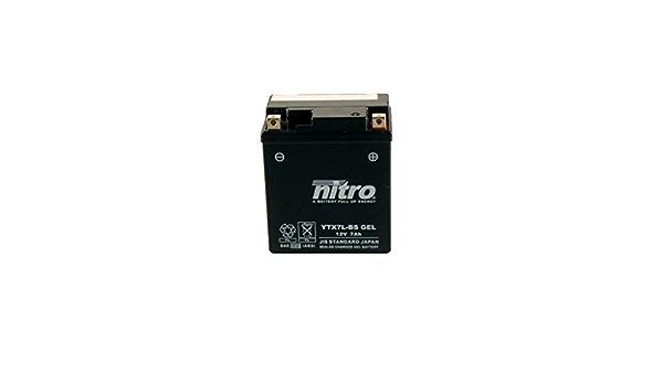 Batterie 12v 6ah Ytx7l Bs Gel Nitro 50614 Cbf 600 S Pc38 04 07 Auto