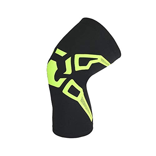 HermosaUKnight Ginocchiere Compression Knee Support Knee Elastic Knee Pads for Workouts - Fluorescent Black (L)