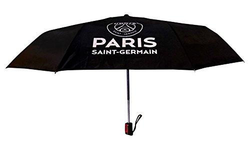 BARBACADO Parapluie pliant Noir PSG, parapluie pliant automatique noir,parapluie de voyage