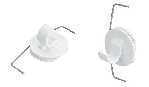 Liedeco Klemmträger für Cafehausstange Bistrostange Scheibenstange | 2 Stück | weiß