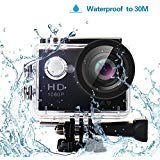 YUNTAB Original W9 Action Kamera Wasserdicht Action Cam WIFI 12 MP Ultra HD Action Camera Sport Kamera Wifi 1080p Video H264 170° Objektiv HDMI TV Mit Kostenlose Accessoires Schwarz